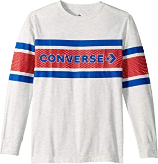 Converse Kids Boy's Two-Tone Graphic Striped Long Sleeve Tee (Big Kids)