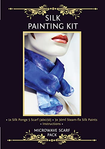 Silkcraft Silk Painting 'MakeYourOwn' Microwave Svoituref Pack -violet,bleu and rose by Silkcraft