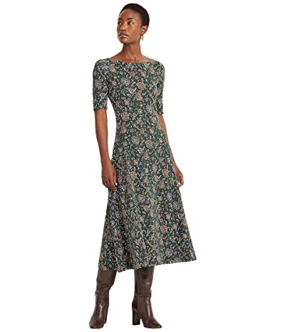 LAUREN Ralph Lauren Ascot-Print Stretch Cotton Midi Dress
