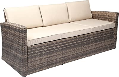 Amazon.com : SUNSITT Outdoor Furniture Sectional Sofa (4 ...