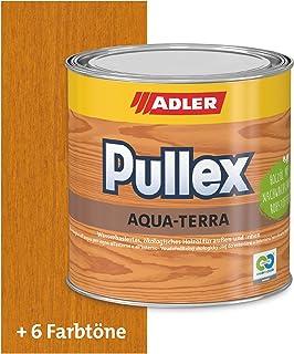 ADLER Pullex Aqua-Terra - Ökologisches Holzöl Außen & Innen - Universell anwendbar für starken Wasserschutz & lange Haltbarkeit - Auf Wasserbasis & nachwachsender Rohstoffe - Lärche 750 ml