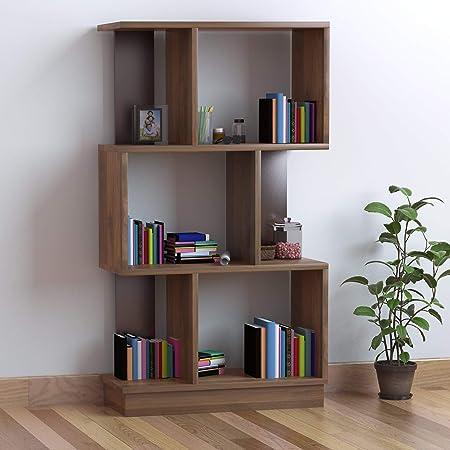 @home by Nilkamal Checkers Engineered Wood 3 Tier Bookshelf in Walnut finish