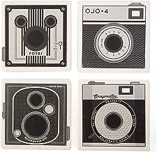 CoasterStone AS2870 Absorbent Coasters, Vintage Cameras (Set of 4), 4-1/4, Multicolor