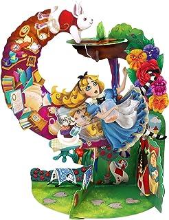 Tarjeta péndulo tridimensional de Alicia en el País de las Maravillas de la marca Santoro, tarjeta de felicitación 3D pop-up, infantil, para cumpleaños