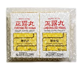 CHEONG RO HWAN Relieve Diarrhea, Upset Stomach, Loose Stool - 48 Tablets Made in Korea - Pack of 2