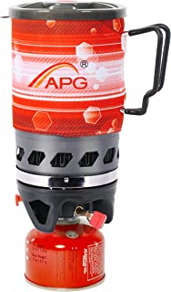 APG Mini 2-Color Camping Stove Cooking System | Propane Burner Outdoor Hiking Backpacking Camp Stove | Portable Gas Stove Burner Solo Stove | Fast Boiling Fuel-Efficient Flash Cooking, 0.9-Liter