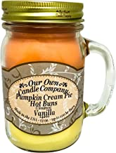 Our Own Candle Company Fall Triple - Pumpkin Cream Pie, Cinnamon, and French Vanilla Scented 13 Ounce Mason Jar Candle