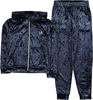 LA Gear Girls Velvour Tracksuit