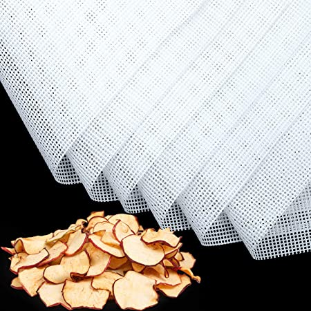 6 Pièces Feuilles de Déshydrateur Carrées en Silicone Tapis de Déshydrateur Antiadhésifs pour Fruits Alimentaires Réutilisables Tapis de Cuisson en Filet à Vapeur pour Séchoir à Fruits