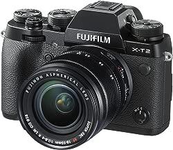 Fujifilm X-T2 Mirrorless Digital Camera with 18-55mm F2.8-4.0 R LM OIS Lens (Renewed)