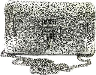 Brass Bag White Metal Purse Vintage Style Brass Purse antique clutch Ethnic clutch Handmade Women metal clutch Bag