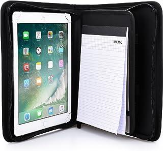 Funda-Carpeta Tablet de Apple iPad Pro 9.7, iPad Air 2 1, Cooper BIZMATE Portafolios Protector Cremallera Viaje, libreta y portalápices, 8,5 x 5,5 (Negro)
