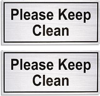 Amazon Com Please Keep Bathroom Clean Sign