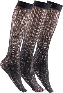 bbaa7c6d61c Felicity Womens Knee High Fishnet Patterned Trouser Socks Dress Socks