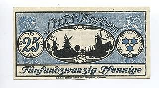 Genuine 1921 German Notgeld Note 25 Pfennig Bill with Windmill and Star of David