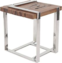 Deco 79 99383 End Table, Brown/Silver