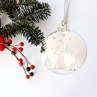 Bolas de Navidad de metacrilato espejo modelo Renos personalizadas ornamento para el árbol de Navidad