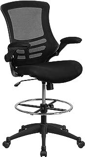Flash Furniture Mid-Back Black Mesh Ergonomic Drafting...
