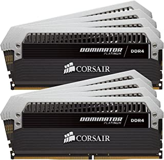 Corsair Dominator Platinum Módulo de Memoria XMP 2.0 de Alto Rendimiento de 64 GB, 8 x 8 GB, DDR4, 3800 MHz, C19, con Ventilador Dominator Airflow RGB LED, Negro