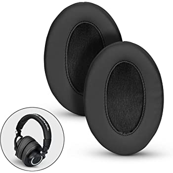 Brainwavz Angled Memory Foam Earpad Suitable For Large Over The Ear Headphones (Black Pleather)