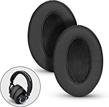 BRAINWAVZ Angled Memory Foam Earpad - Suitable for Large Over The Ear Headphones - AKG, HifiMan, ATH, Philips, Fostex large Black BWAVZ-Angled-Earpads