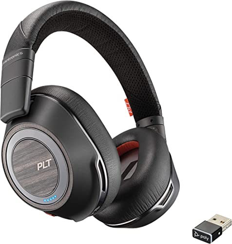 popular Plantronics - Voyager 8200 UC (Poly) discount - Bluetooth Dual-Ear online (Stereo) Headset - USB-A Compatible to connect to your PC and Mac - Works with Teams, Zoom & more - Dual-Mode Active Noise Canceling online