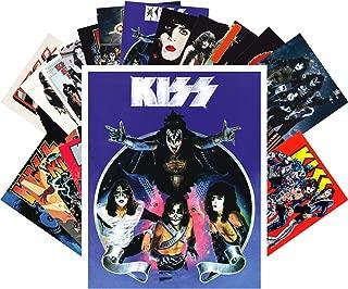 Postcard Set 24pcs Kiss Rock Group Vintage Posters Movies Comic
