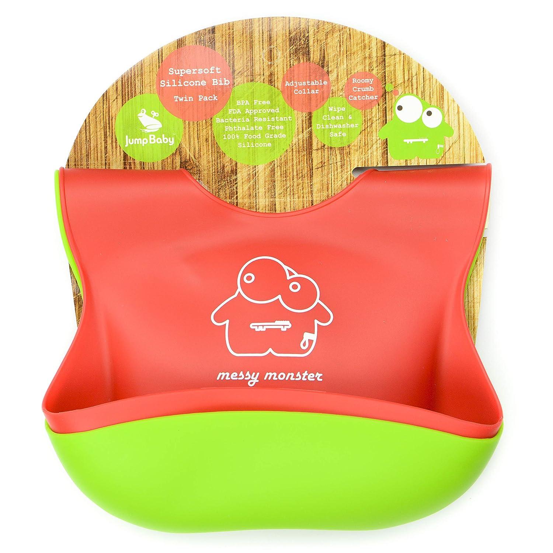 Jump Baby Ranking TOP20 It is very popular Silicone Feeding Bibs 2 adjustable free pack. wa BPA
