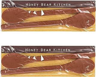 Honey Bear Kitchen Silicone Coffee Tea Drink Stirrer, Set of 2 17 cm x 1.5 cm x 0.5 cm (L x W x H) Brown
