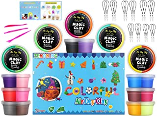 Air Dry Clay Double Colors, Big Cup (2.46 oz), 12 Pieces 29.52 OZ. Modeling Clay 24 Colors Magic Clay, Tools and Manuals, Color Boxes
