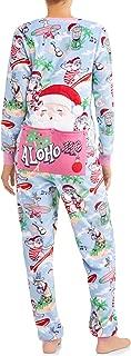 Women's Aloho-ho Santa Beach Drop Seat Christmas Fleece Union Suit Pajamas