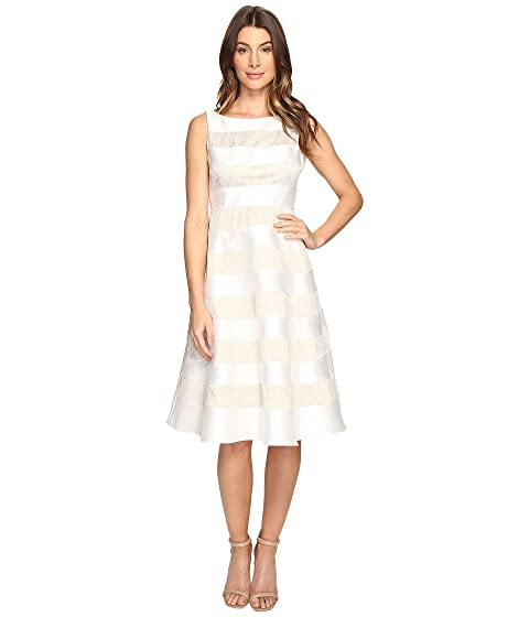 Striped Dress Mikado Papell Cocktail Adrianna amp; Lace q7Tfv