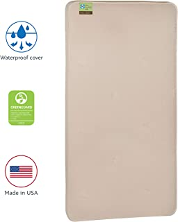 "Sealy Baby Cotton Cozy Rest 2-Stage Dual Firmness Waterproof Standard Toddler & Baby Crib Mattress - 204 Premium Coils, 51.7"" x 27.3"