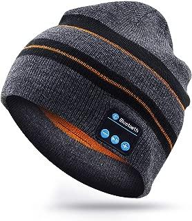 Bluetooth Beanie Gorro Altavoz Estéreo Inalámbrico Auriculares con HD y Micrófono Unisex Inalámbrico Auricular Hat para Hombres y Mujeres para Navidad Cumpleaños