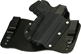 FoxX Holsters Glock 26, 27, 33 in The Waistband Hybrid Holster Tuckable, Concealed Carry Gun Holster
