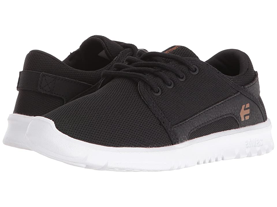 etnies Kids Scout (Toddler/Little Kid/Big Kid) (Black/White/Gum Textile/Synthetic) Boys Shoes