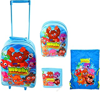 Children,Moshi Monsters Children's 4 Piece Luggage Set,Official Licensed