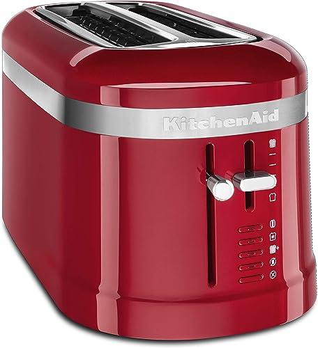 2021 KitchenAid KMT5115ER 4 Slice online Long Slot High-Lift online Lever Toaster, Empire Red online