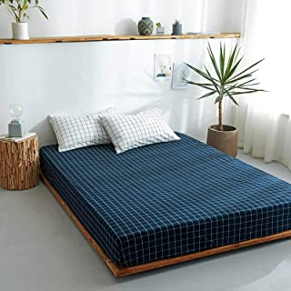 Easy Care Plain Fleece Fitted Sheet, Bedding Accessory, Soft & Cosy Bed Linen, Double Size Bedsheet,180cmx200cm+25 cm