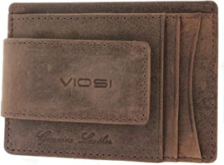 Genuine Kingston Leather Magnetic Front Pocket Money Clip Made with Powerful RARE EARTH Magnets