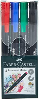 Faber-Castell Permanent Marker Slim Wallet Of 4Pc