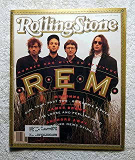 Michael Stipe, Bill Berry, Peter Buck & Mike Mills - R.E.M. - Rolling Stone Magazine - #607 - June 27, 1991 - Madonna: Part 2, Is Network News Dying?, James Brown articles