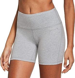 "Baleaf Women's 5"" High Waist Workout Yoga Shorts Tummy Control Inner Pocket for 5.5"" Mobile Phone"