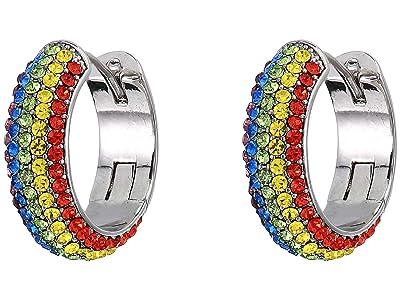 Kate Spade New York Candy Drops Pave Huggies Earrings (Rainbow Multi) Earring