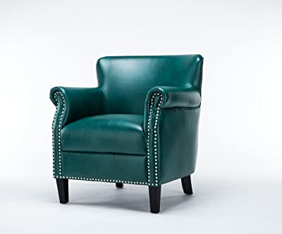 Source One Rosemary Club Upholstered Chair, Teal