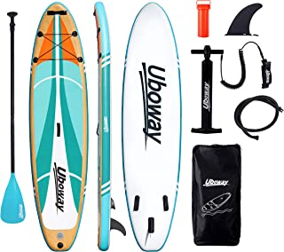Inflatable Paddle Boards Stand Up: 10/11 feet SUP with Adjustable Paddle Backpack Pump Leash Fin Youth Adults Standup Padd...