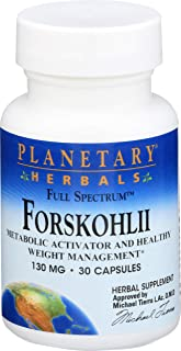 Planetary Herbals Forskohlii Full Spectrum 130mg, Metabolic Activator and Healthy Weight Management,30 Capsules