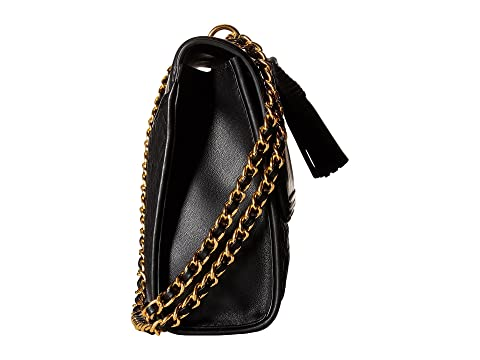 Latest Collections  Good Selling Tory Burch Fleming Convertible Shoulder Bag Black Sale Best Sale Cheap Browse r3ePMo