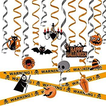 31 Packs d/écoration dhalloween pour la f/ête /à Suspendre Swirl Weekend/&Lifecan Halloween Decoration,Halloween Party Decorations,Ensemble de d/écoration de f/ête dhalloween