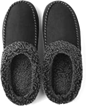 ULTRAIDEAS Men's Cozy Memory Foam Moccasin Suede Slippers with Fuzzy Plush Wool-Like Lining, Slip on Mules Clogs House Sho...